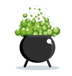 black witch cauldron vector image