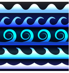 Blue tones gradient waves vector