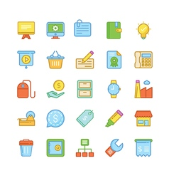 Business icons 3 vector