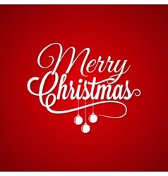 Christmas Logo Lettering On Red Background vector image vector image