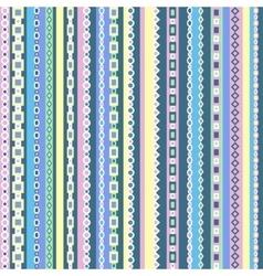 Colorful geometric seamless pattern design vector