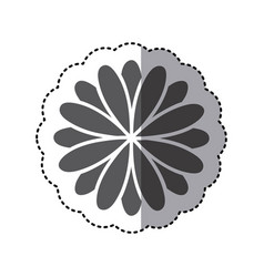 contour flower with petals icon vector image vector image