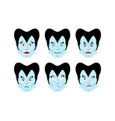 Dracula emotions set expressions vampire avatar vector