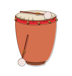 Drum with sticks vector