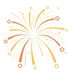 Firework design with yellow and orange stars on vector image