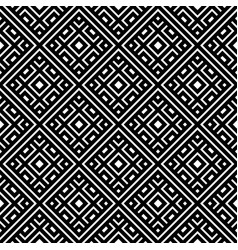 geometrical seamless pattern black and white color vector image vector image