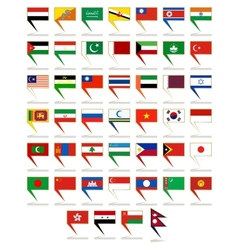 Icons to flags of Asia vector image