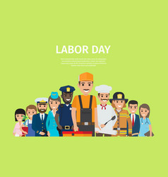international labor day bright promotion poster vector image
