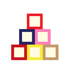 Isolated baby cubes vector