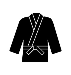 Karate suit icon on background vector image vector image