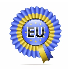 national flag badge EU vector image vector image