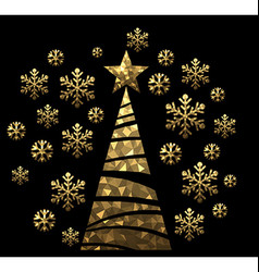 New year background with christmas tree vector