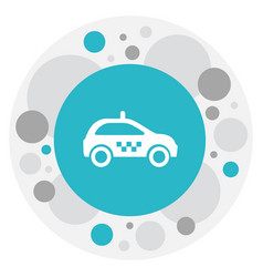 Of transport symbol on taxi vector