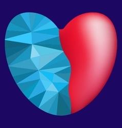 Polygon frozen heart vector