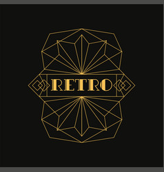Retro logo luxury vintage geometric monogram vector