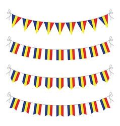 romanian bunting vector image vector image