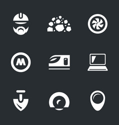 Set of subway construction icons vector