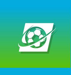 soccer logo icon vector image vector image