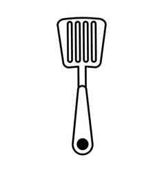 Spatula kitchen cutlery isolated icon vector