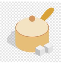 Sugar bowl isometric icon vector