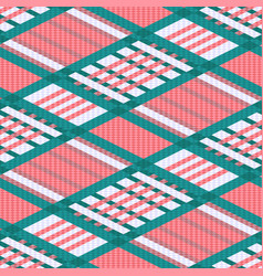 tartan seamless rhombus texture in light colors vector image vector image