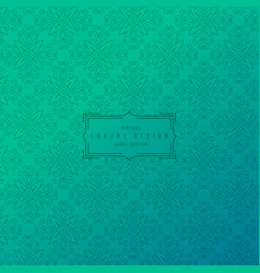 Turquoise background with ornamental pattern vector
