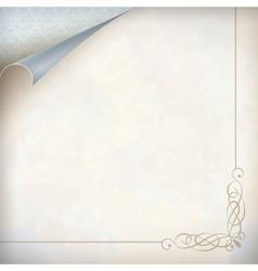 Vintage curled corner card vector image