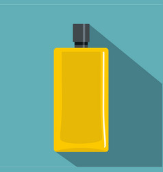 Yellow scent bottle icon flat style vector