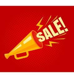 Megaphone sale vector