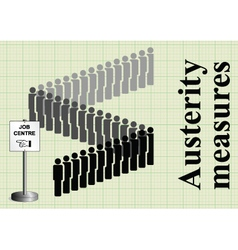 Austerity measures and job cuts vector image