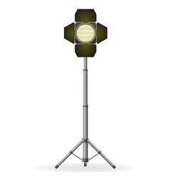 Movie floodlight vector