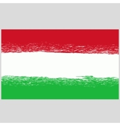 National hungary grunge flag vector