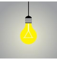 Shining light lamp on gray background vector image