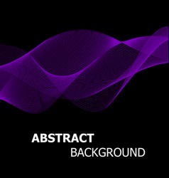Abstract purple line wave background vector