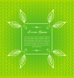 Green calligraphic elements vector