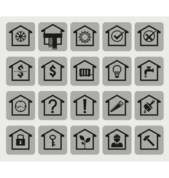 20 house icons vector