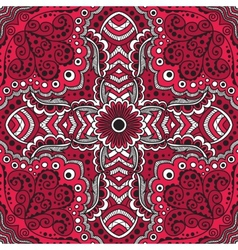 seamless red pattern of spirals swirls vector image