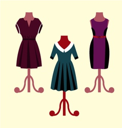 Evening dresses on a mannequin vector