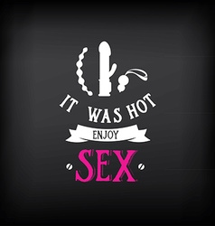 Sex shop logo and badge design vector