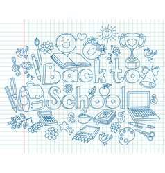 Back to school composition vector