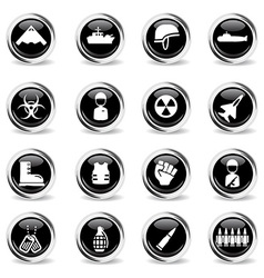 Military simply icons vector