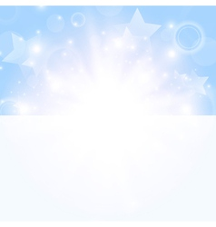 Bright day background with stars vector