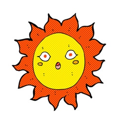 Comic cartoon sun vector