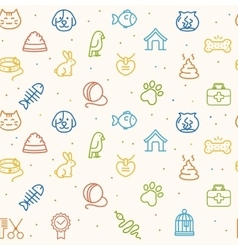 Pet seamless pattern vector