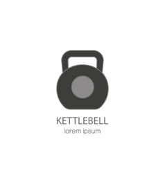 Line style logo with a kettlebell vector