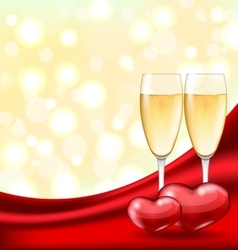 Abstract Background with Wineglasses of Champagne vector image vector image