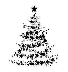 Abstract of a christmas tree vector