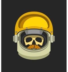 Astronauts helmet with a dead man vector