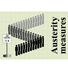 Austerity measures and job cuts vector