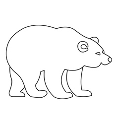 Bear icon outline style vector